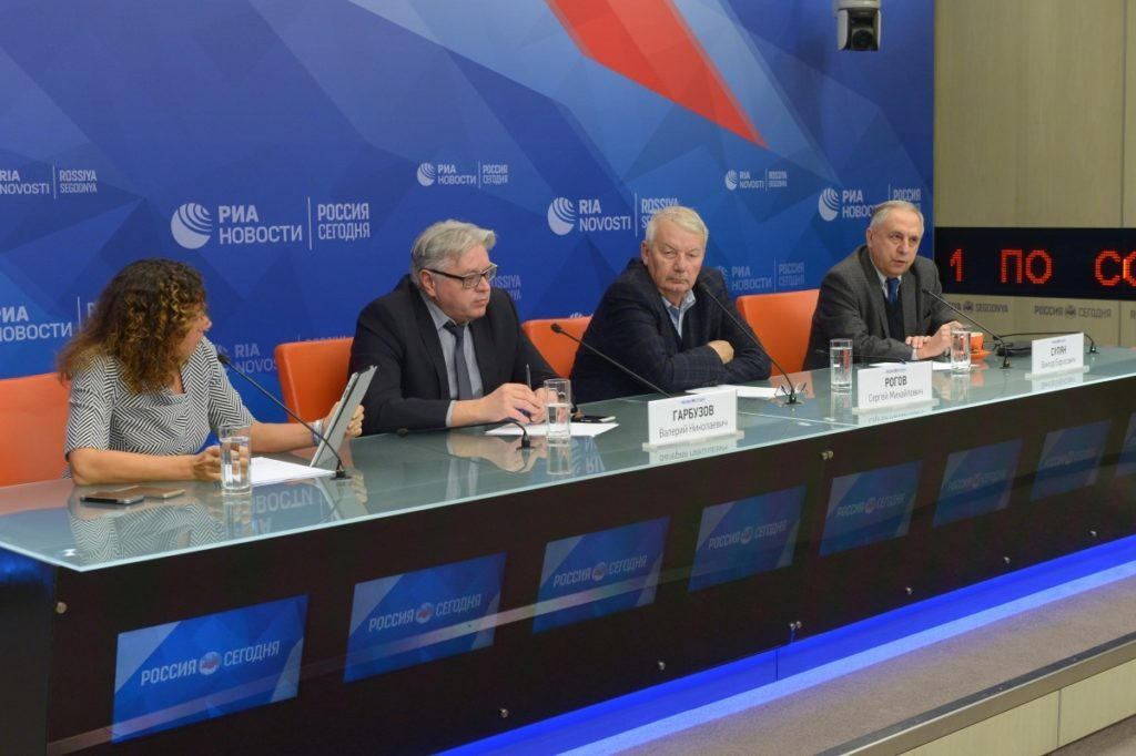 2018.02.07 MIA 'Russia Today' hosted a multimedia press conference on the theme: 'Russian-American relations: the current state'